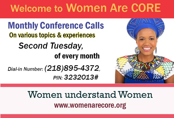 Women Are CORE conference calls